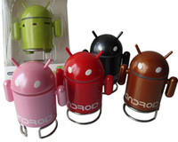 Wholesale Google Robots - WELL-KNOW SPEAKER For MP3 MP4 Cellphone,Tablet PC Google Android Robot Mini Speaker with TF Card Slot & FM Raido