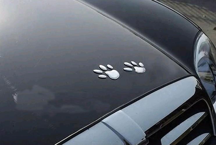 50PR / 3 차원 부드러운 PVC Footprint 멋진 자동차 스티커 데칼 차량 decals 재미 있은 범퍼 스티커 car-styling