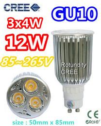 Wholesale Led Bulbs 3x4w - 20X CREE GU10 3x4W 12W AC 85~265V lamp Bulb LED Downlight Led light Led Bulb Warm Cool Pure White