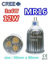 Wholesale Led Bulbs 3x4w - Retail CREE MR16 3x4W 12W 12V lamp Bulb LED Downlight Led light Led Bulb Warm Cool Pure White