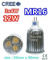 Wholesale Led Bulbs 3x4w - 20X CREE MR16 3x4W 12W 12V lamp Bulb LED Downlight Led light Led Bulb Warm Cool Pure White