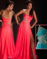 Wholesale Evening Dresses Crystal Stones - Free Shipping New style Cassandra Stone 50007A beautifully Prom Dress halter beaded straps Chiffon Evening Dress