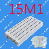 Wholesale Disposable Tattoo Needle 15 - 50x 15M1 Tattoo Sterilized Needles Disposable Single Stack Magnum 15 Size Needle Tattoo Supply Super