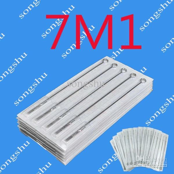 50x 7M1 문신 살균 바늘 단일 스택 매그넘 7 크기 바늘 문신 키트 공급