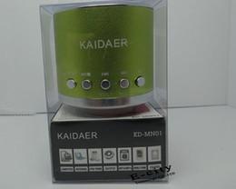 Wholesale Loudspeaker Kaidaer - 20pcs KAIDAER KD-MN01 Multimedia Speaker Music Micro SD Card Speaker Loudspeaker For PC, Phone4 4S