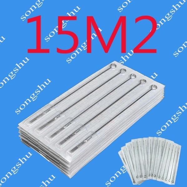 top popular 50x 15M2 Tattoo Sterilized Needles Double Stack Magnum 15 Size Needle Tattoo Supply Excellent 2020