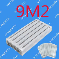 Wholesale M2 Needles - Lot Of 50pcs 9M2 Tattoo Sterilized Needles Double Stack Magnum 9 Size Needle Tattoo Supply