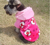 Wholesale new coming dog clothes pet clothes with hat size for choose