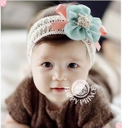 Wholesale Hairbow Flowers - 1 PCS Girl Flower Hairbow Hairband Baby Hat