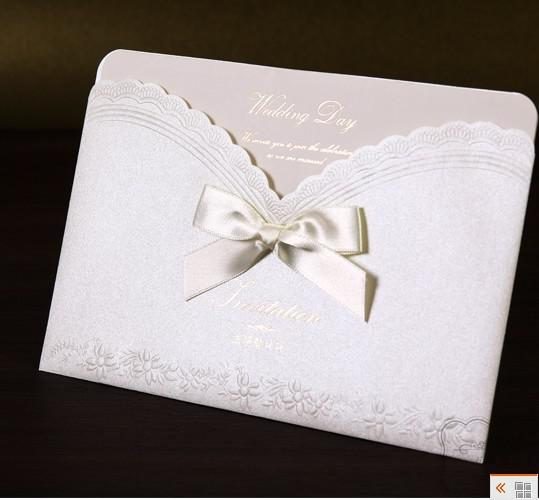 Ych2916 Fast Shipping White Invitation Card Wedding Invitations