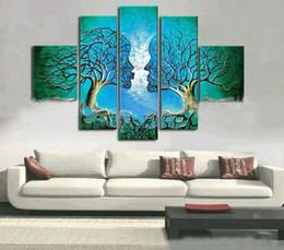 $enCountryForm.capitalKeyWord Canada - oil painting Couple Love Tree abstract canvas art high quality hand paint modern home wall art decor