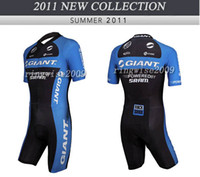 Wholesale Giant Skinsuit - MEN'S CYCLING WEAR CYCLING JERSEY SKINSUIT 2011 GIANT BLUE SIZE: XS-4XL G11
