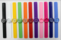 Wholesale Clap Watch - 50pcs Snap Slap Watch Silicone Kids Candy Jelly Clap Watches slap for Children and Kids with Quartz