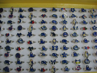 anillo de humor animal al por mayor-venta al por mayor 500 unids anillos de humor animales mixtos mariposa, sonrisa, corazón, paz paloma anillos de moda joyería Fr