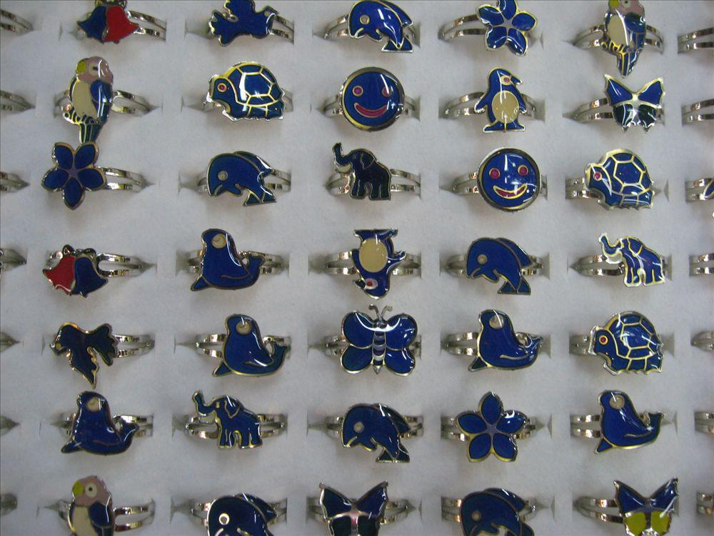 wholesale mood rings mixed animals butterfly,smile,heart,peace dove fashion rings jewelry Fr