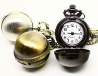 ingrosso donne di vigilanza steampunk-Orologio da taschino da uomo con cassa sferica Steampunk Pocket Watch