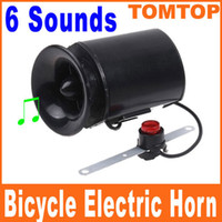 Wholesale Alarm Horn Speaker - 6 Sounds Black Bicycle Electronic Bell Alarm Siren Horn Loud Speaker H8200