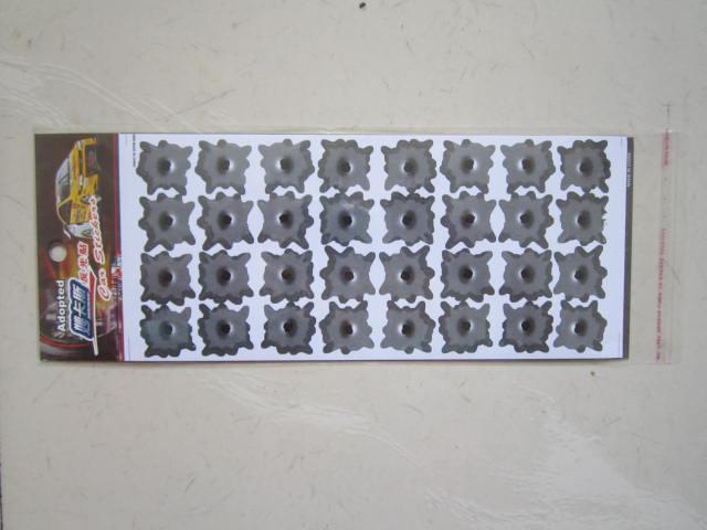 / 32 가짜 총알 구멍 자동차 스티커 데 칼 재밌는 비닐 스티커 개인 자동차 스티커