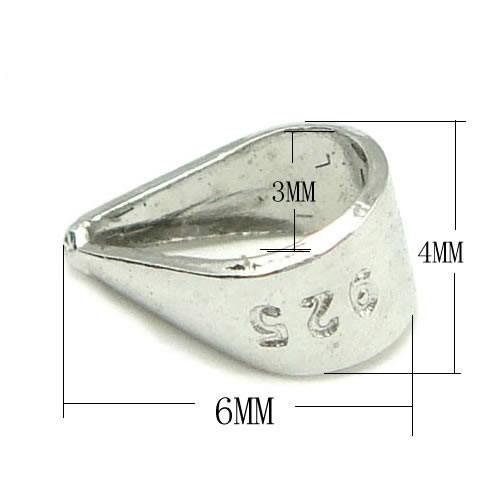 20 teile / los 925 Sterling Silber Pinch Clip Verschluss Für Anhänger DIY Handwerk Schmuck 3x4x6mm WP024