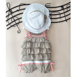 Wholesale Dress Hat Set Girls - cute baby sets baby outfits baby set girls' hat baby suits baby dress baby cap baby rompers CL258