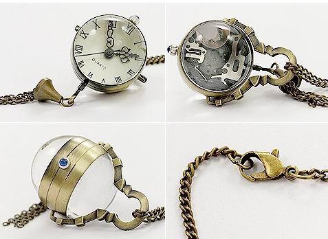 Seltene Fisheye-Art-Fisch-Augen-Form-Taschen-Uhr-Unisexfrauen-hängende Halsketten-Herren-Taschen-Uhren