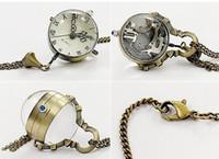 Wholesale Rare Fish - Rare Fisheye Style Fish Eye Shape Pocket Watch Unisex Women's Pendant Necklace Mens Pocket Watches