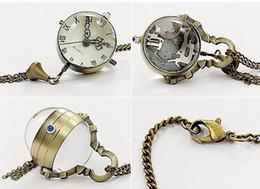 Großhandel Seltene Fisheye-Art-Fisch-Augen-Form-Taschen-Uhr-Unisexfrauen-hängende Halsketten-Herren-Taschen-Uhren