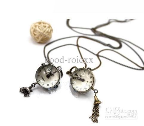 Rare Fisheye Estilo Fish Eye Forma Relógio de Bolso Unisex Colar de Pingente de Mulheres Mens Relógios de Bolso