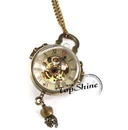 2019 mecánico de cuerda manual de relojes antiguos. Unisex Antique Fish Eye Style Reloj de bolsillo mecánico retro Cuerdas para hombres Relojes de bolsillo mecánico de cuerda manual de relojes antiguos. baratos