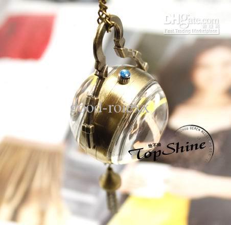 Unisex Antique Fish Eye Style Reloj de bolsillo mecánico retro Cuerdas para hombres Relojes de bolsillo