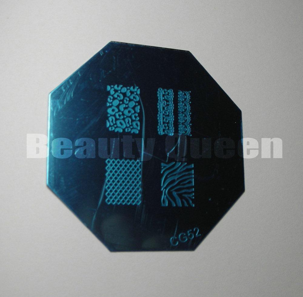 30 Stil Desings Nail Art Stamping Stamping Image Plate Französisch Full Print Vorlage Schablone + Gratis Geschenk