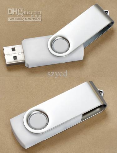 Gerçek 2 GB 4 GB 8 GB 16 GB USB Flash Sürücü 2.0 memory stick dönen döner çelik disk Bellek Kalem Sürücüler