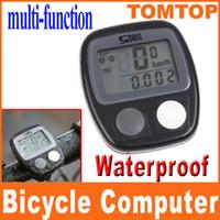 Wholesale Bicycles Etc - 14 Functions Waterproof LCD Cycle Bike Bicycle Computer Odometer Speedometer CLOCK etc. H8245