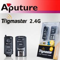 Wholesale Trigmaster Wireless Flash - Aputure Trigmaster Remote 2.4G MX1C Wireless Flash Trigger for Canon EOS 450D 1Transmitter+1Receiver