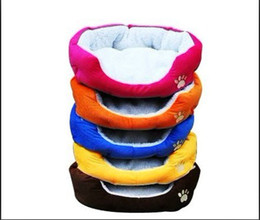 Wholesale Cat Beds Free Shipping - EMS Free Shipping Washable Cozy Soft Warm Fleece Pet Bed Dog Cat Bed Style Sleep Accessories W  Mat