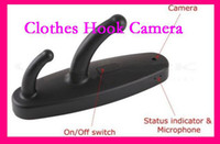 Wholesale Clothes Hook Motion Activated Camera - New Mini USB Clothes Hook Camera Motion- Activated 30FPS 720*480 AVI Mini DVR Black White DHL Free
