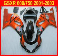 Full Set Fairing Kit for 2001 2002 2003 Suzuki GSXR 600 750 GSX-R600 750 01 02 03 ABS Fairings kit