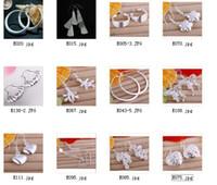 mischaufträge ohrringe großhandel-Heiße Mischbestellungen 925 Sterlingsilber-Bandohrring-Art und Weiseschmucksachen geben Verschiffen 12pair / lot frei