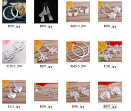 Wholesale American Heart Hoops - Hot mixed orders 925 sterling silver hoop earrings fashion jewelry free shipping 12pair lot