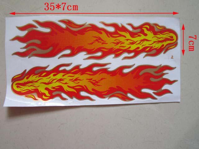 30 teile / los Flamme Coole Auto Aufkleber Rot und Grün Billig Großhandel lustige autoaufkleber vinyl aufkleber