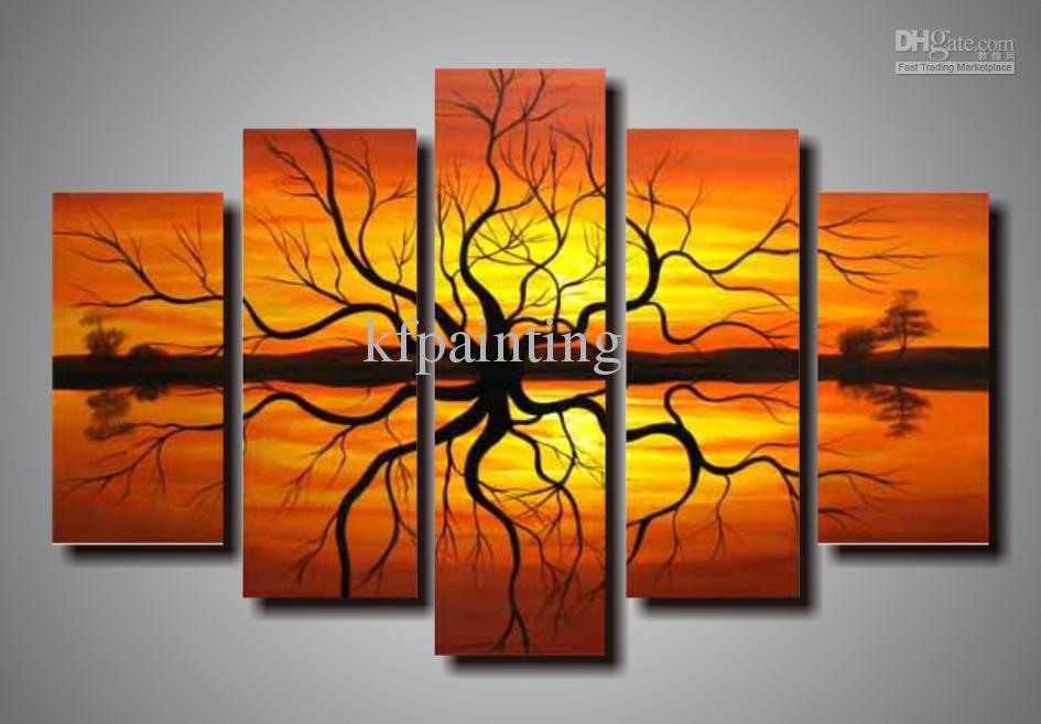 ... 100% Hand Painted Abstract Painting Wall Art Canvas Home Decoration  Com5133