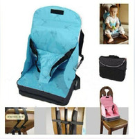 Wholesale Portable Booster Seats - Baby   Toddler Portable Fold Up Safety High Chair Booster Seat Blue Pink