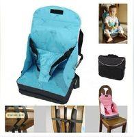 pembe koltuklar toptan satış-Bebek / Toddler Taşınabilir Katlayın Güvenliği Yüksek Sandalye Booster Seat Blue Pink