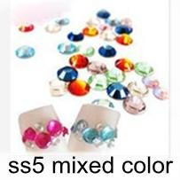 Wholesale Nail Crystal Mix Colors - Nail Rhinestone & Decoration Colors Mixed ss5 1.8mm 1440Pcs Lot Silver Foil Back Crystal HB924-S5