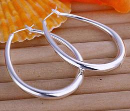 Wholesale Big Hoop Earrings Free Shipping - Fashion Women's 925 Silver Earrings Jewelry Big Hoop 925 Silver Earrings Jewelry 15pairs lot Free Shipping
