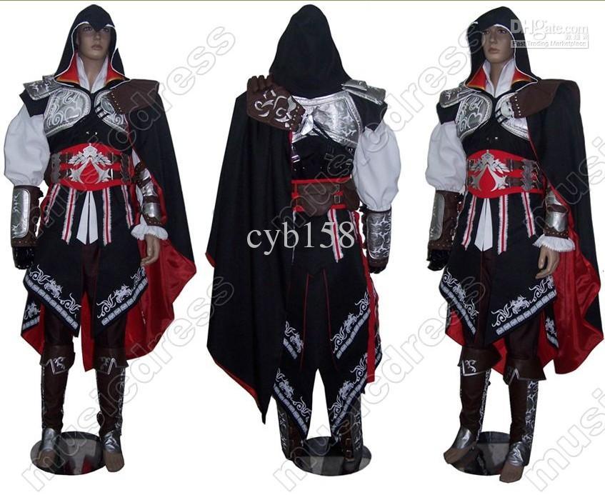 Assassins Creed 2 Ii Ezio Black Anime Cosplay Costume Best