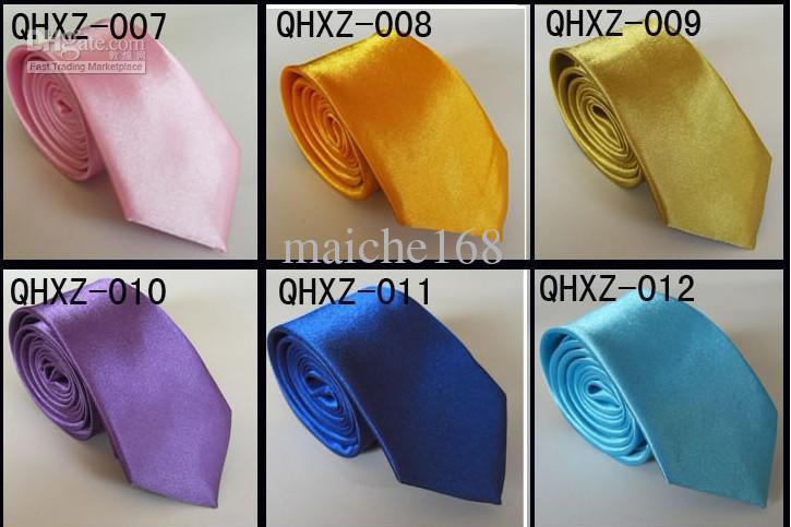 Venda al por mayor el lazo ocasional de lazo de los hombres y de las mujeres, lazo del color sólido, multicolor opcional