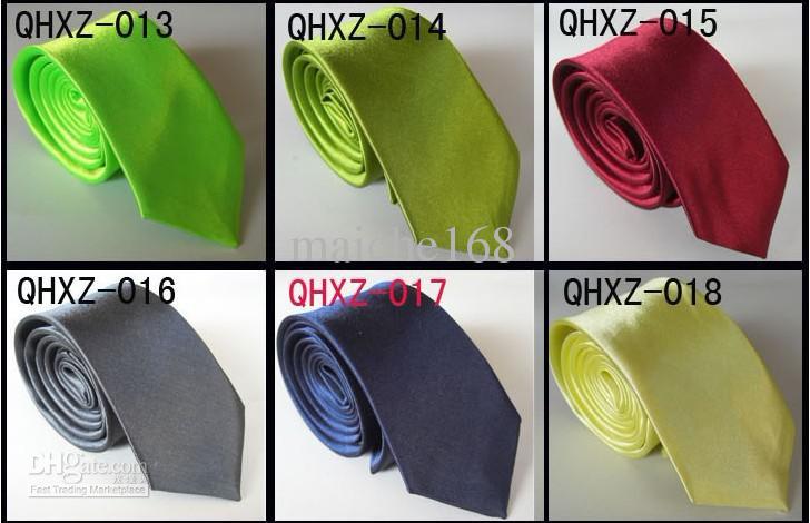 Venta al por mayor 5 piezas de corbata casual, corbata de hombre y mujer, corbata de color liso, opcional multicolor