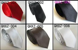 Canada vente en gros 5 cravate décontractée, cravate hommes et femmes, cravate de couleur unie, multicolore en option Offre