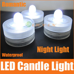 Wholesale Green Led Submersible Lights - LED waterproof candle lights wireless submersible led light red green white blue pink orange purple